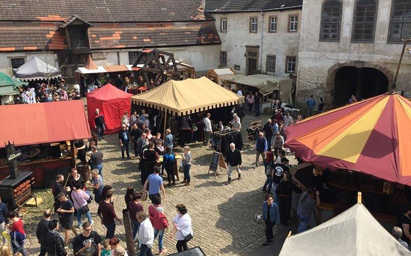 Szene auf dem Burgfest in Querfurt