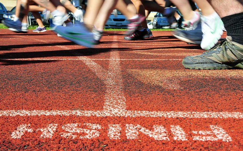 Marathon Zieleinlauf